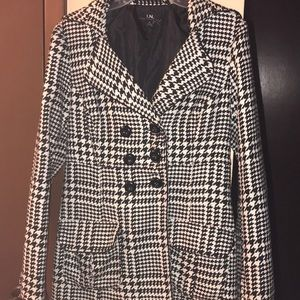 I.N. San Francisco Houndstooth Peacoat